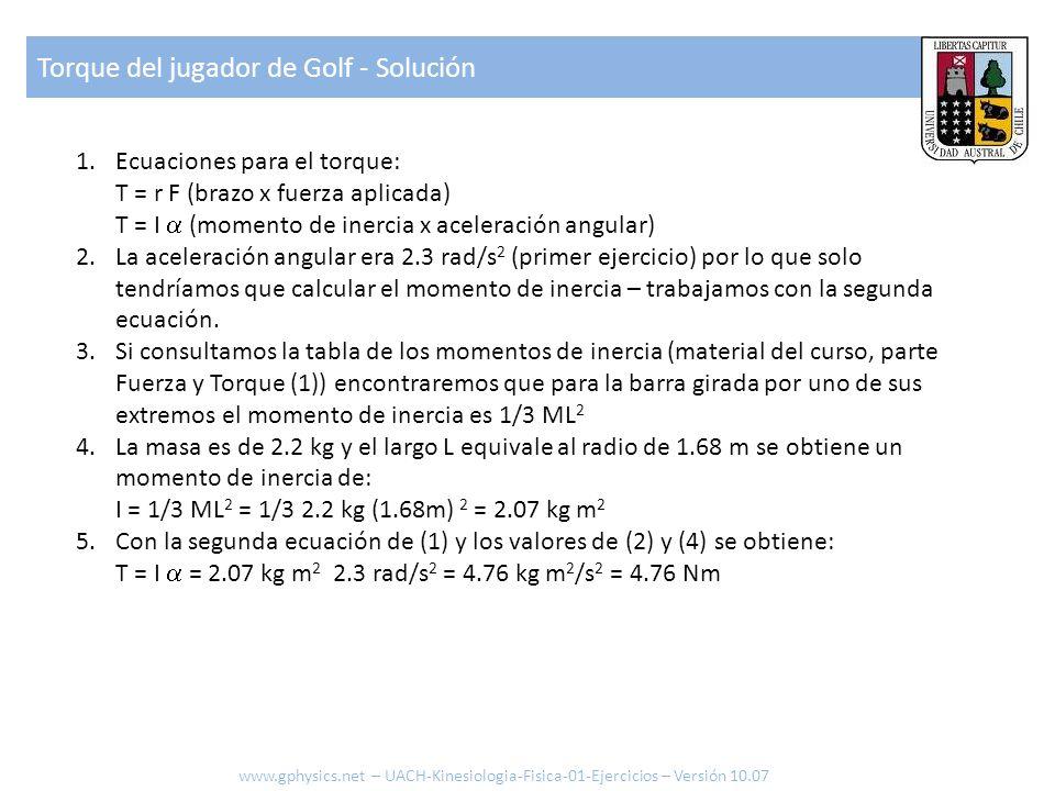 Torque del jugador de Golf - Solución