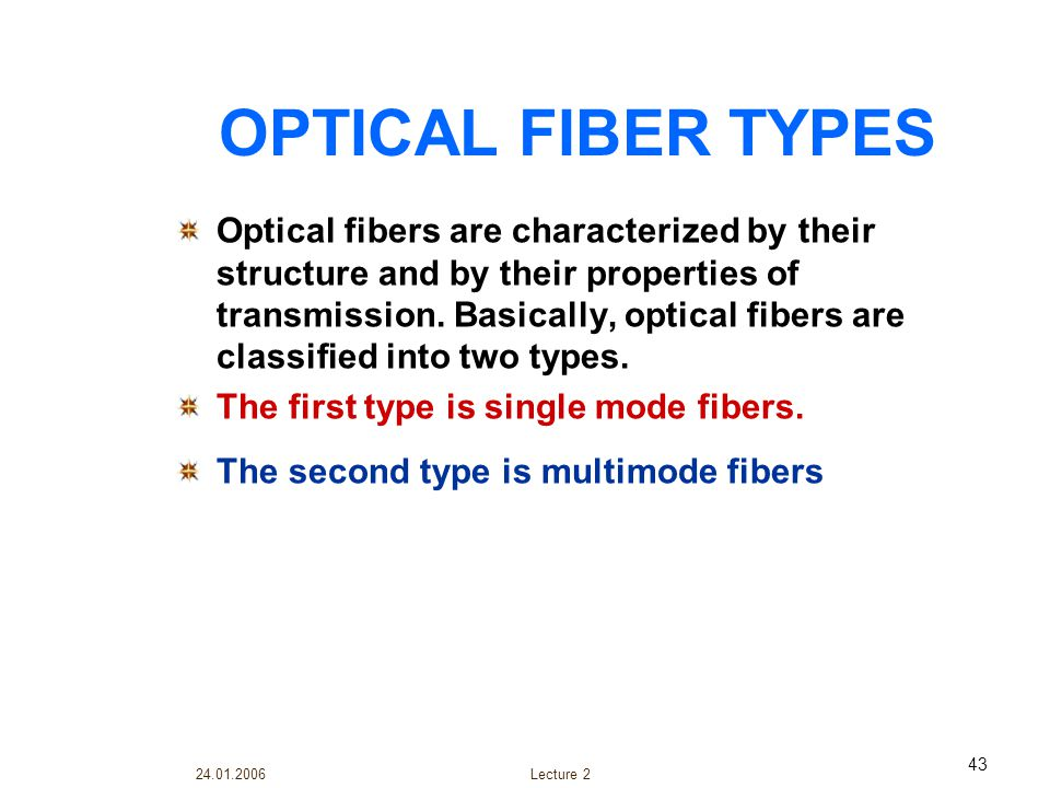 OPTICAL FIBER TYPES