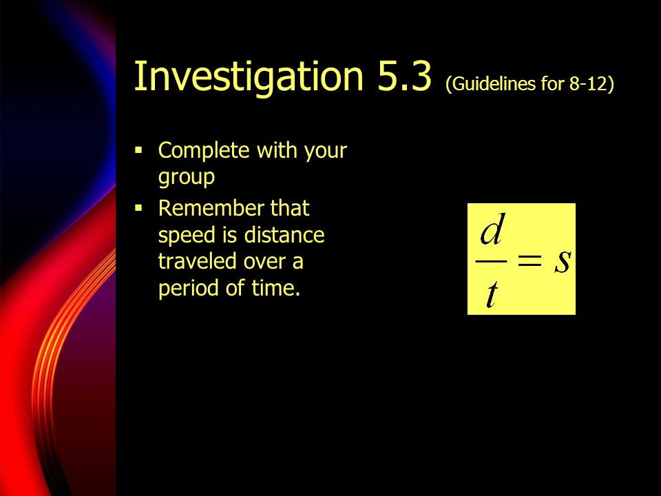 Investigation 5.3 (Guidelines for 8-12)