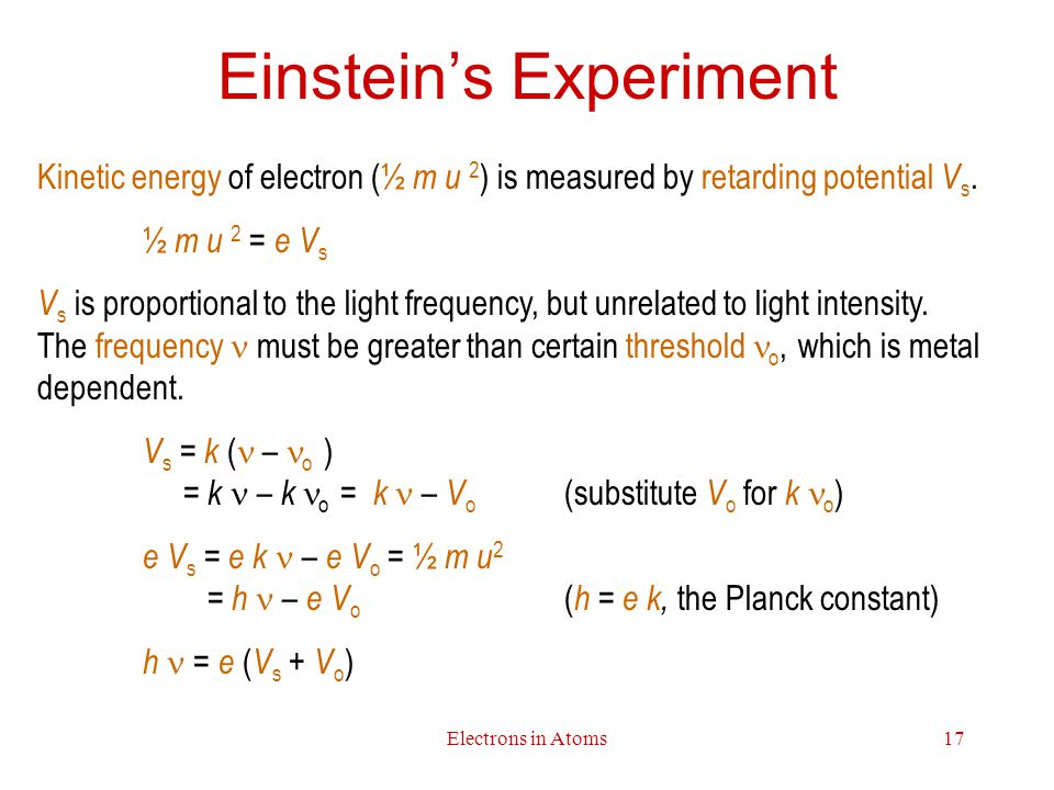 Einstein's Experiment