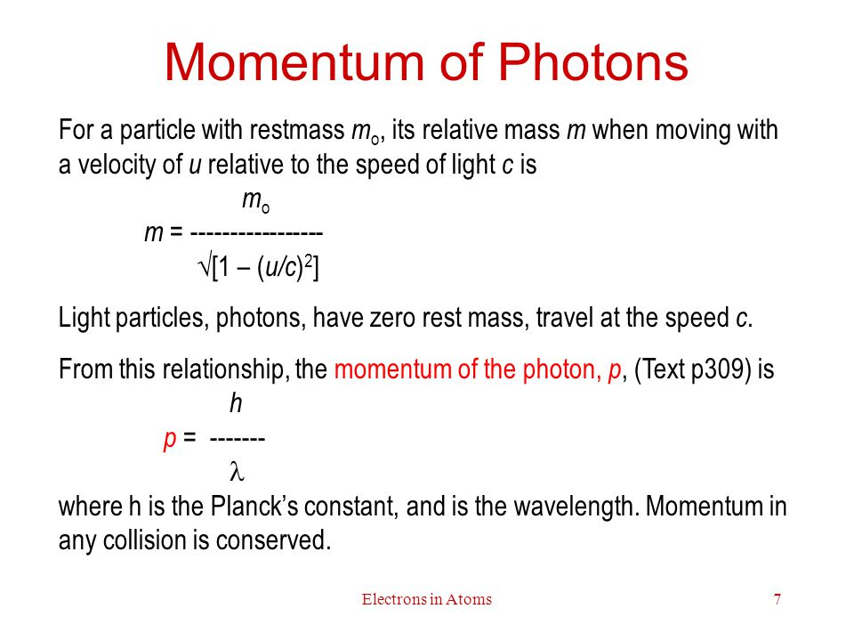 Momentum of Photons