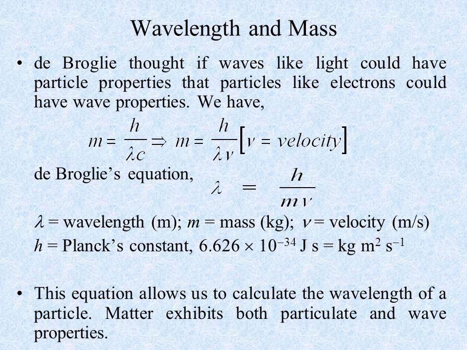 Wavelength and Mass