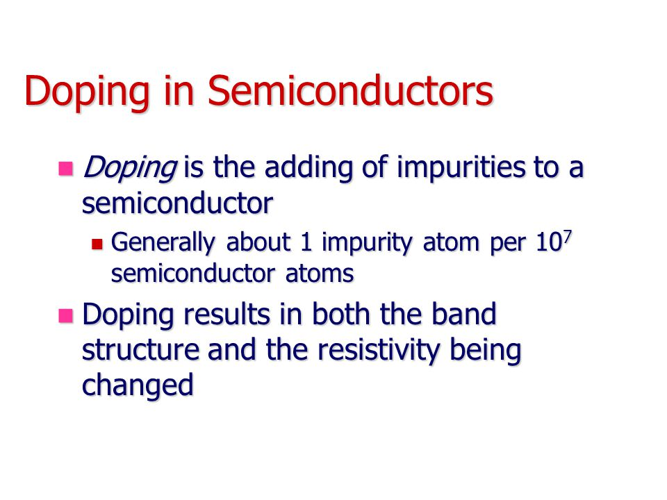 Doping in Semiconductors