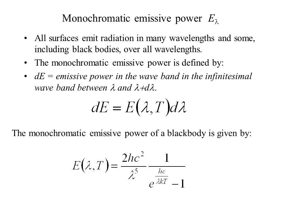 Monochromatic emissive power El