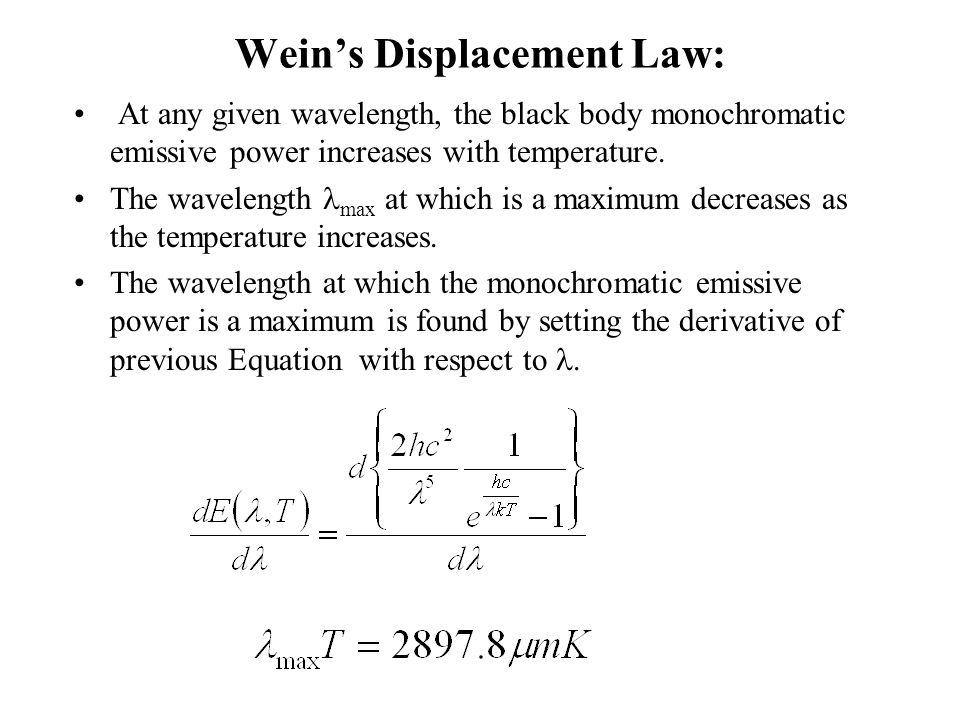 Wein's Displacement Law: