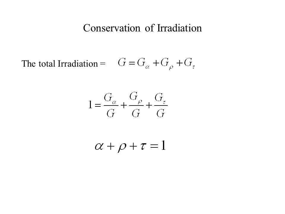 Conservation of Irradiation