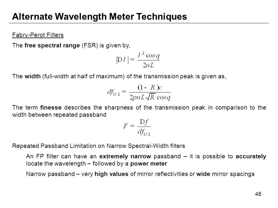Alternate Wavelength Meter Techniques