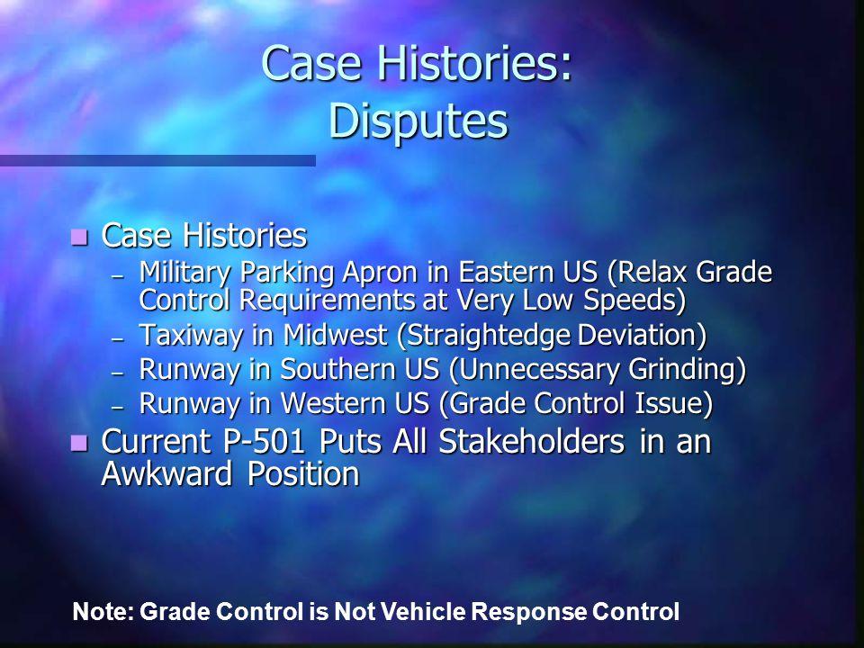 Case Histories: Disputes