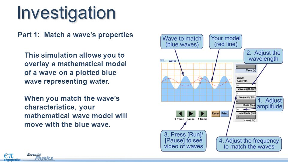 Investigation Part 1: Match a wave's properties
