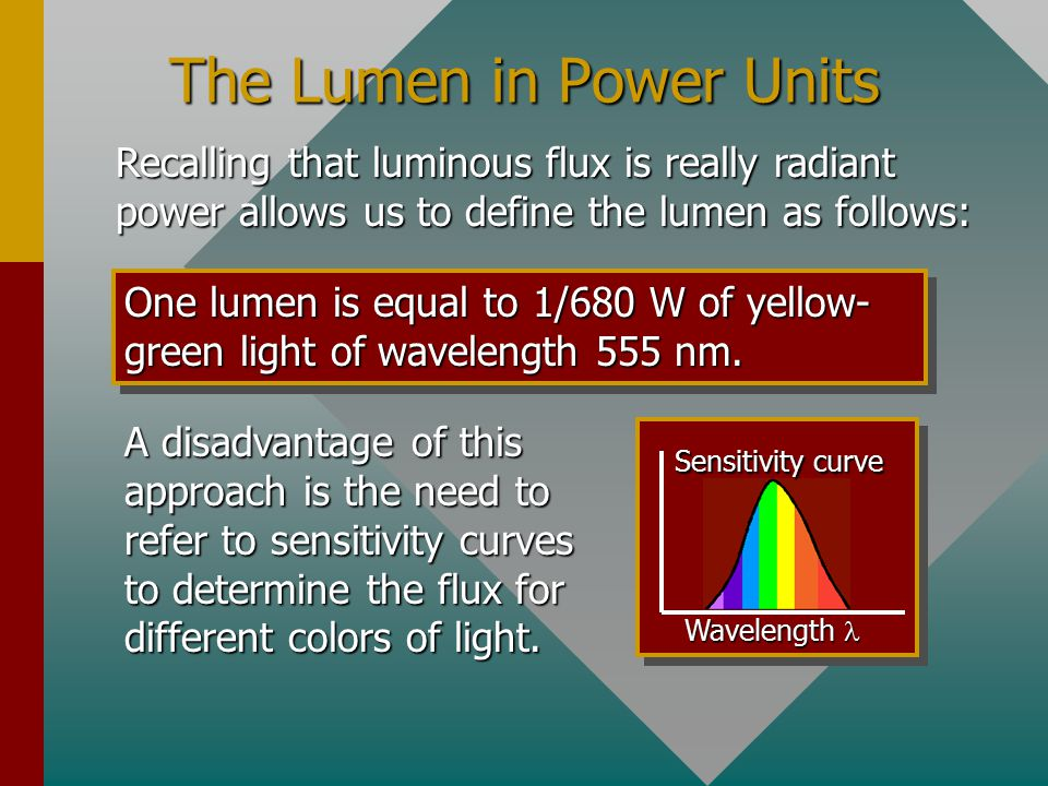 The Lumen in Power Units