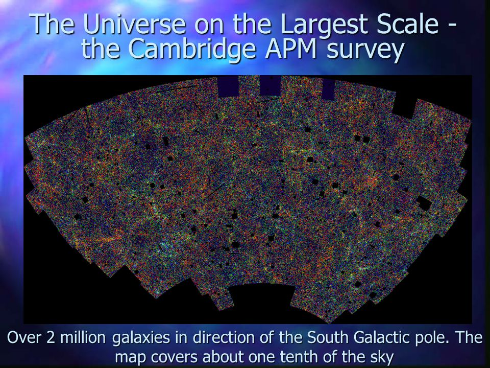 The Universe on the Largest Scale - the Cambridge APM survey