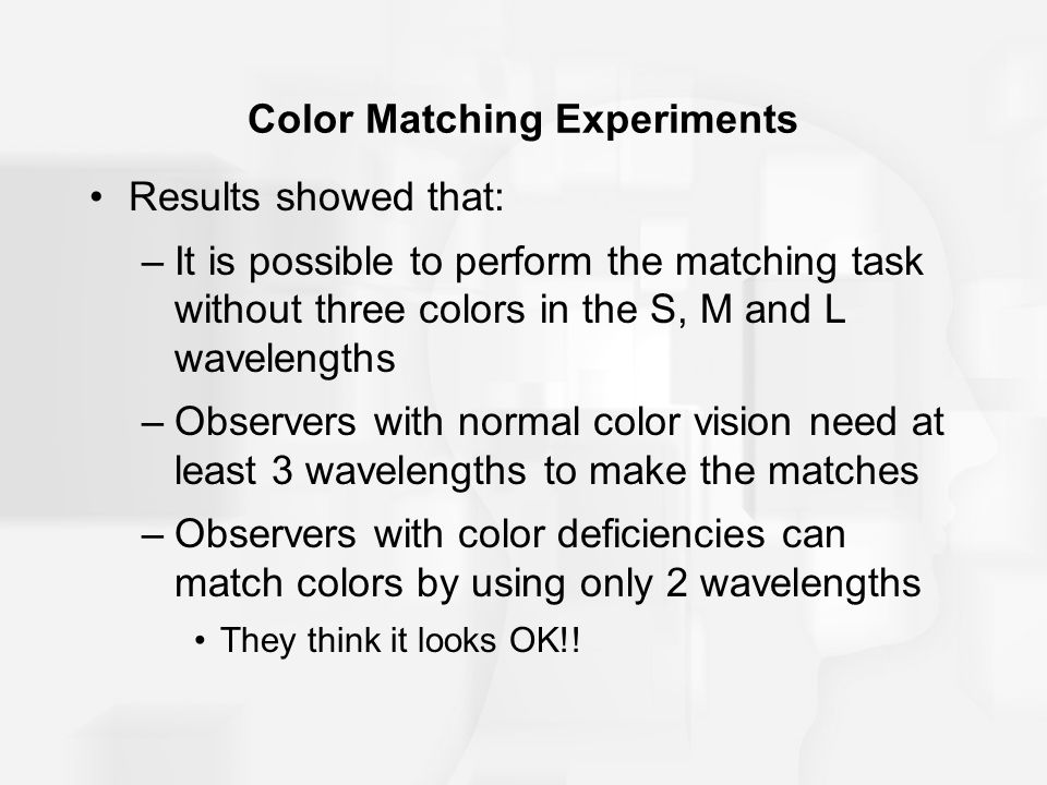 Color Matching Experiments