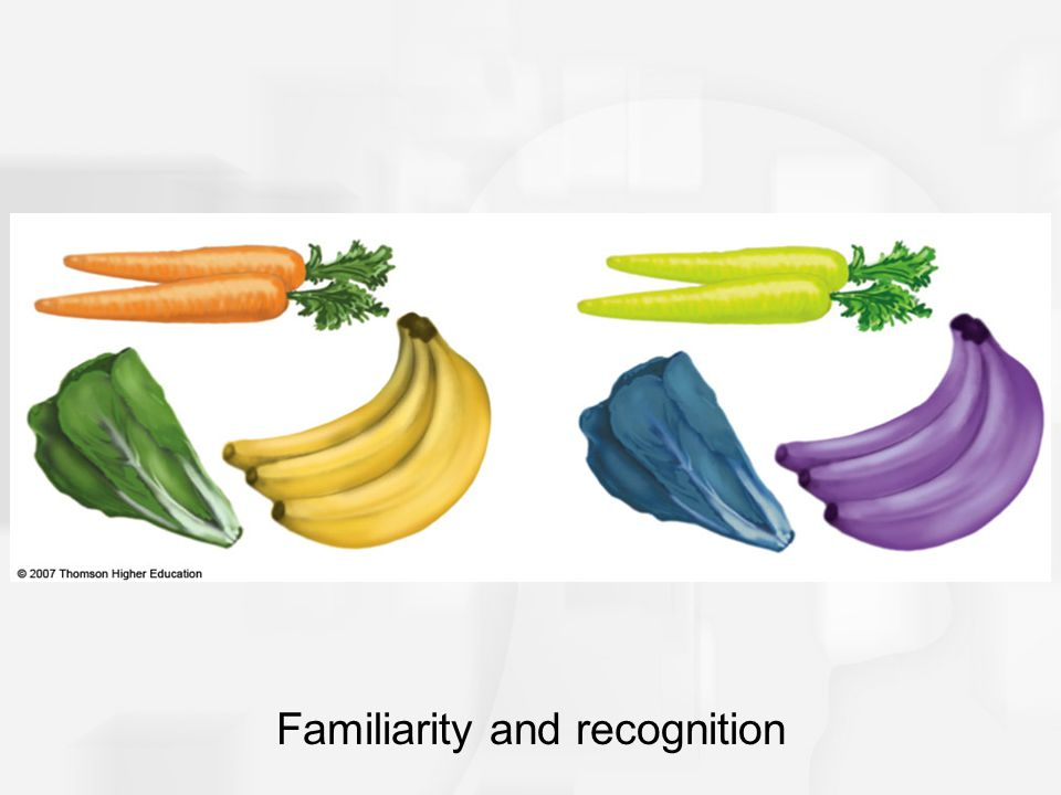 Familiarity and recognition