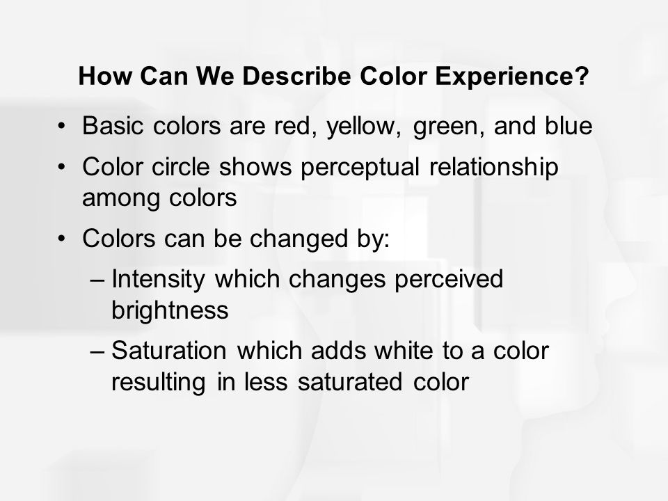 How Can We Describe Color Experience