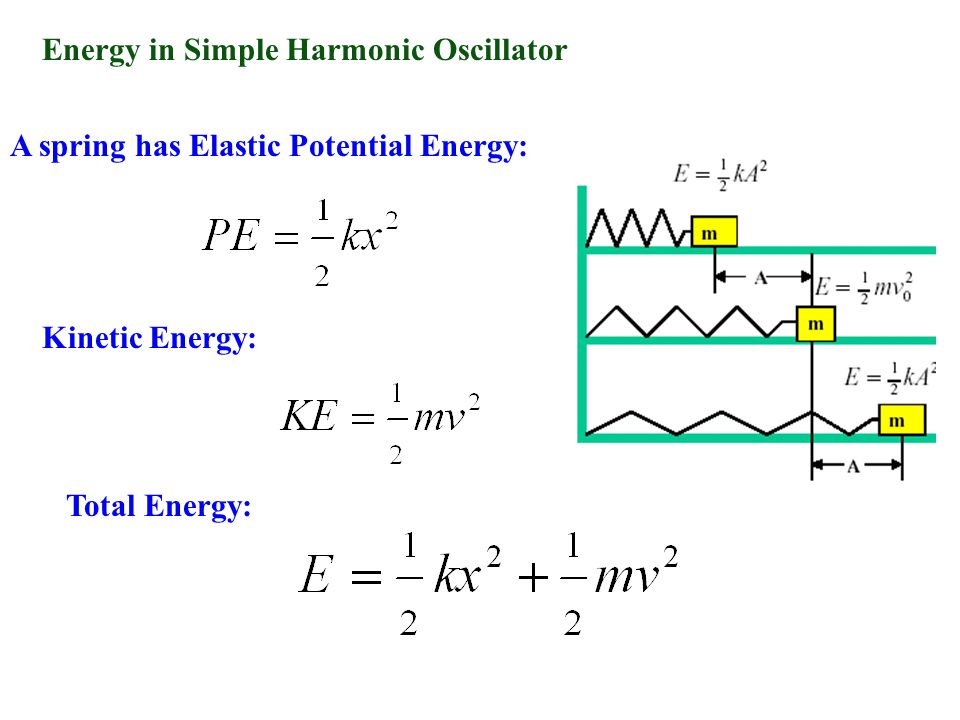 Energy in Simple Harmonic Oscillator