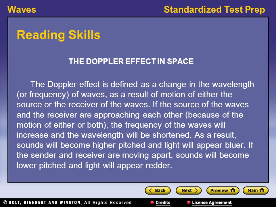 THE DOPPLER EFFECT IN SPACE
