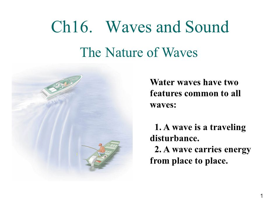 Ch16. Waves and Sound The Nature of Waves