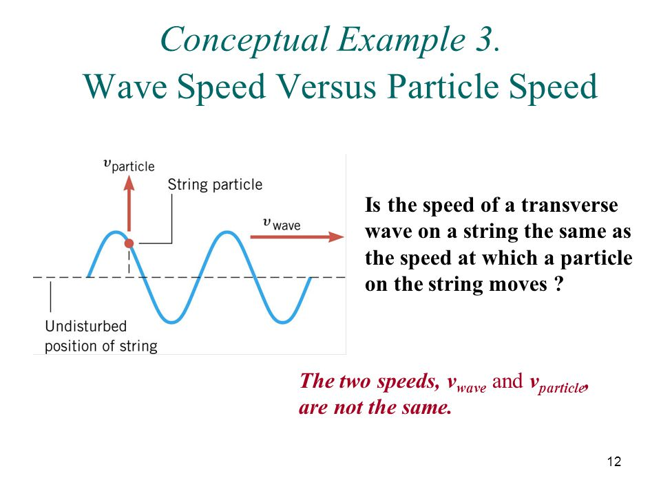 Conceptual Example 3. Wave Speed Versus Particle Speed