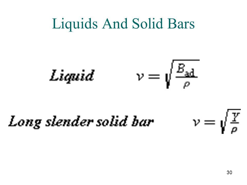 Liquids And Solid Bars