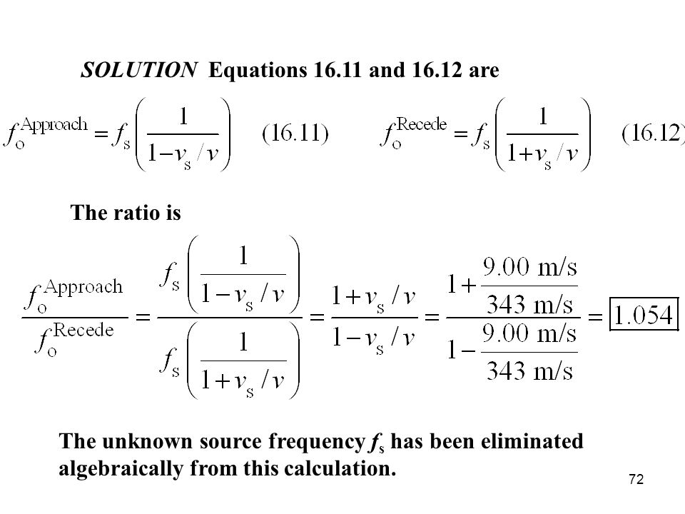 SOLUTION Equations 16.11 and 16.12 are