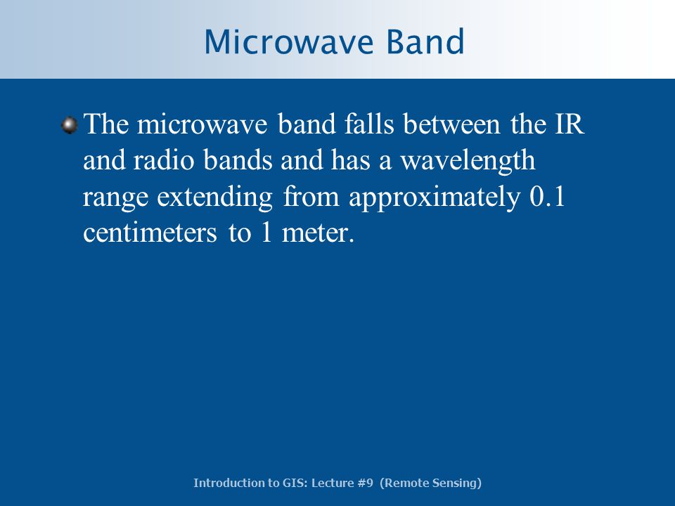 Microwave Band