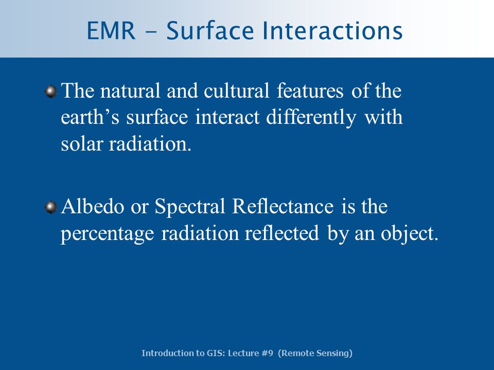 EMR - Surface Interactions