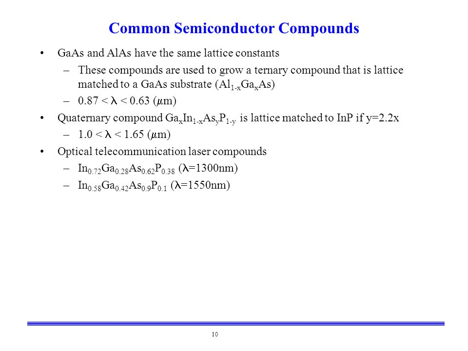 Common Semiconductor Compounds