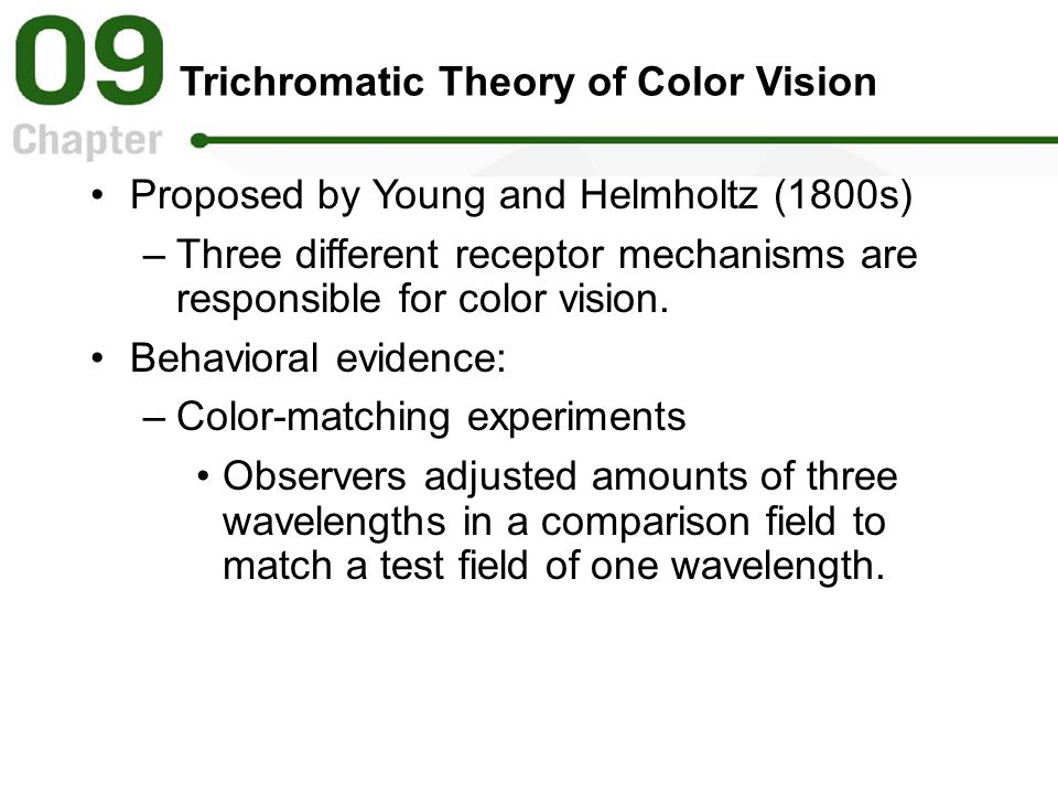 Trichromatic Theory of Color Vision