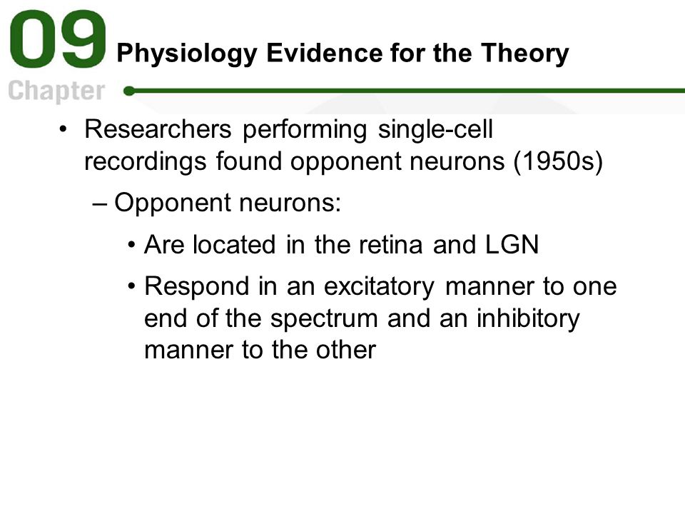 Physiology Evidence for the Theory