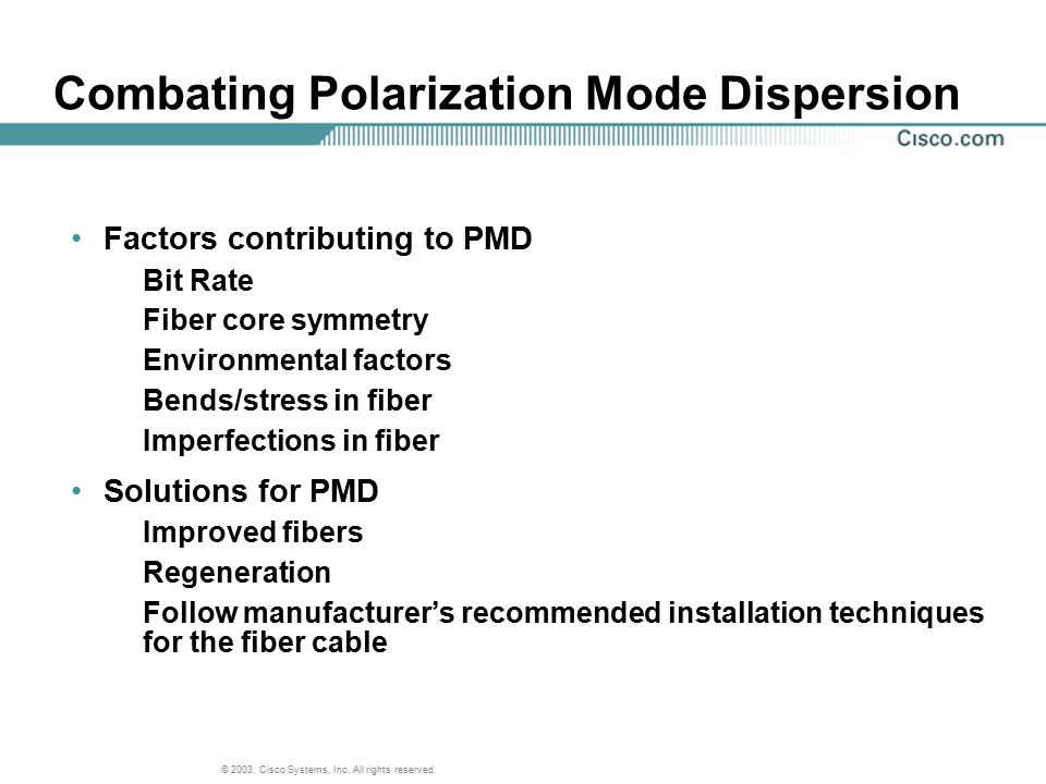 Combating Polarization Mode Dispersion