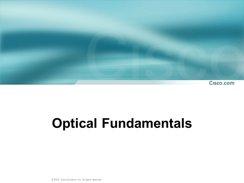 Optical Fundamentals