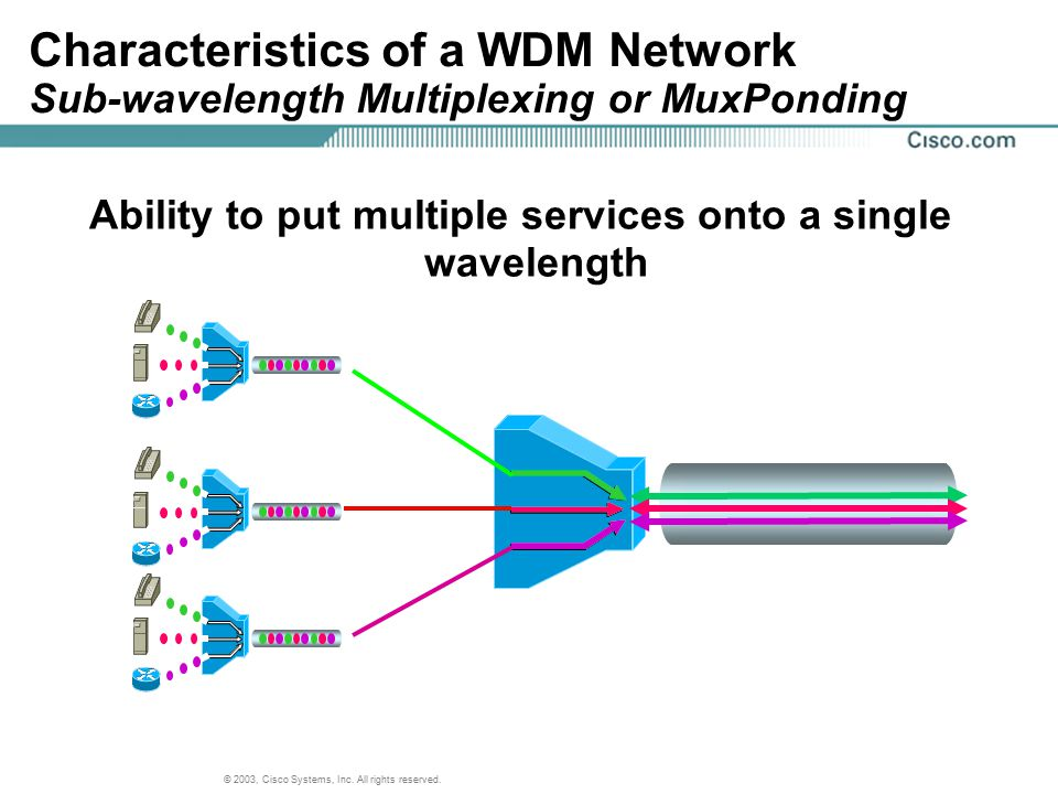 Ability to put multiple services onto a single wavelength