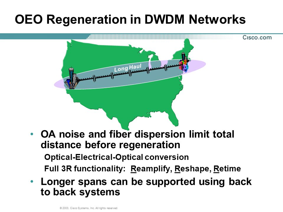 OEO Regeneration in DWDM Networks