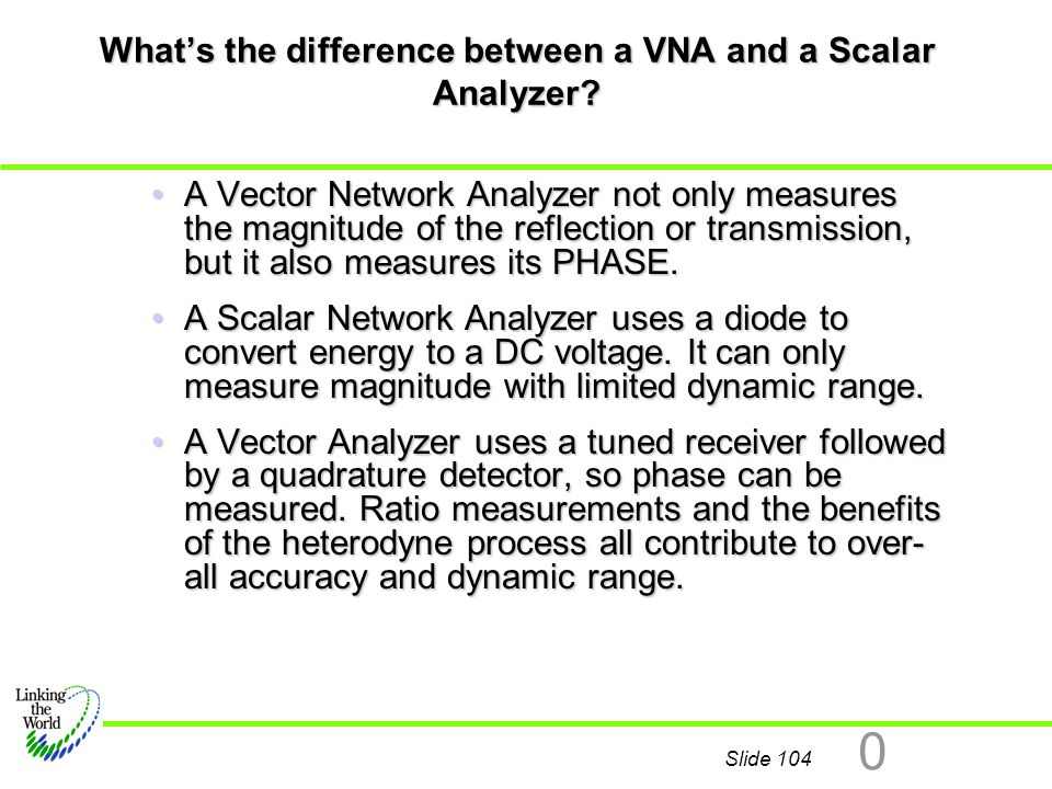 What's the difference between a VNA and a Scalar Analyzer