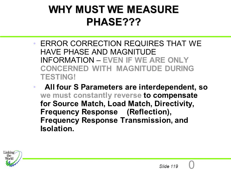 WHY MUST WE MEASURE PHASE