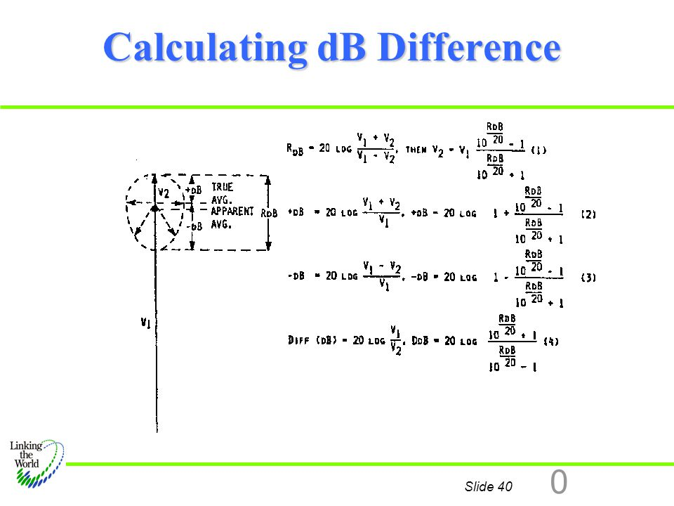 Calculating dB Difference
