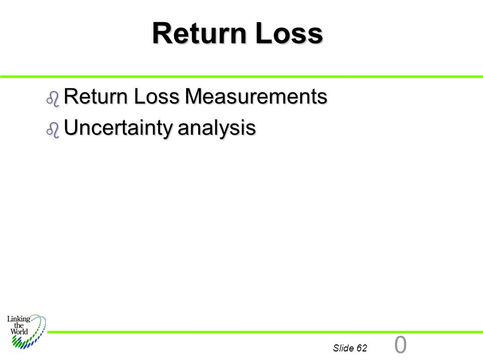 Return Loss Return Loss Measurements Uncertainty analysis