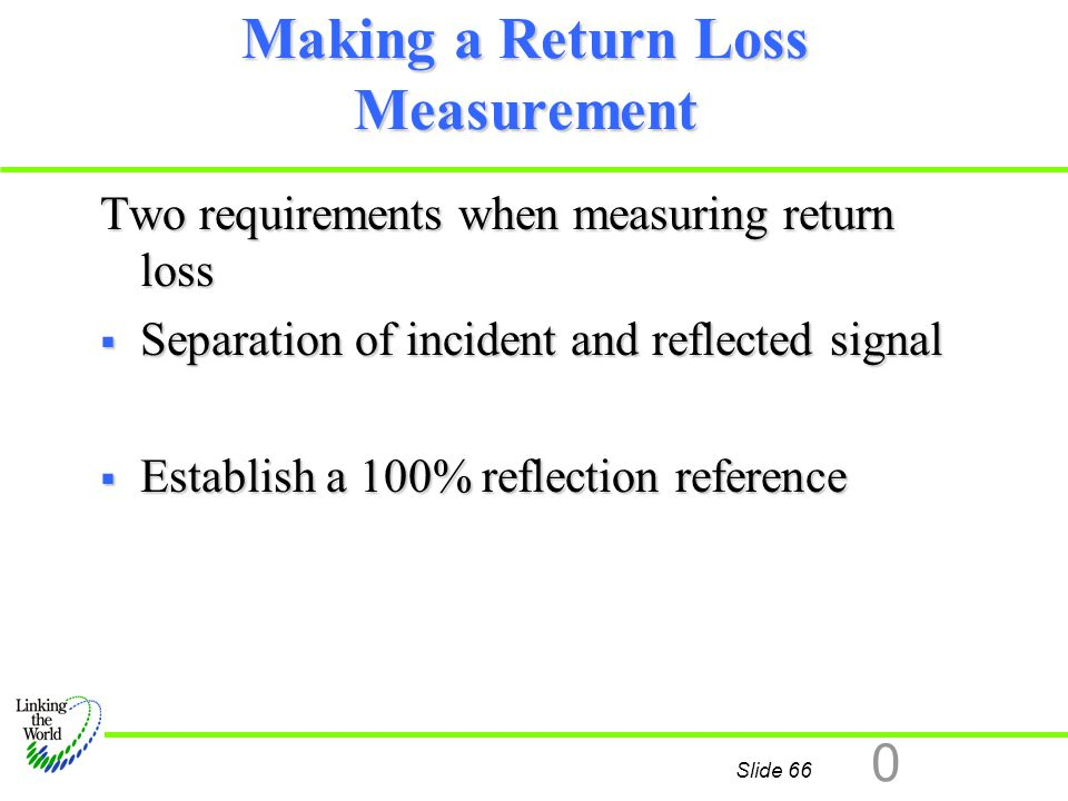 Making a Return Loss Measurement