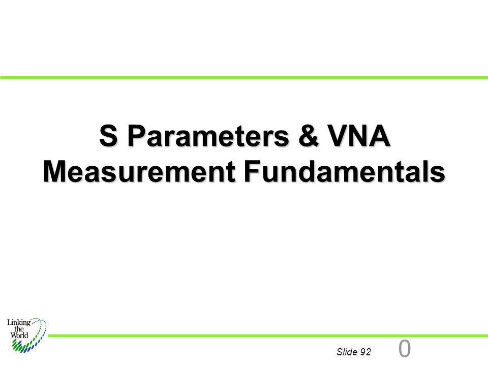 S Parameters & VNA Measurement Fundamentals