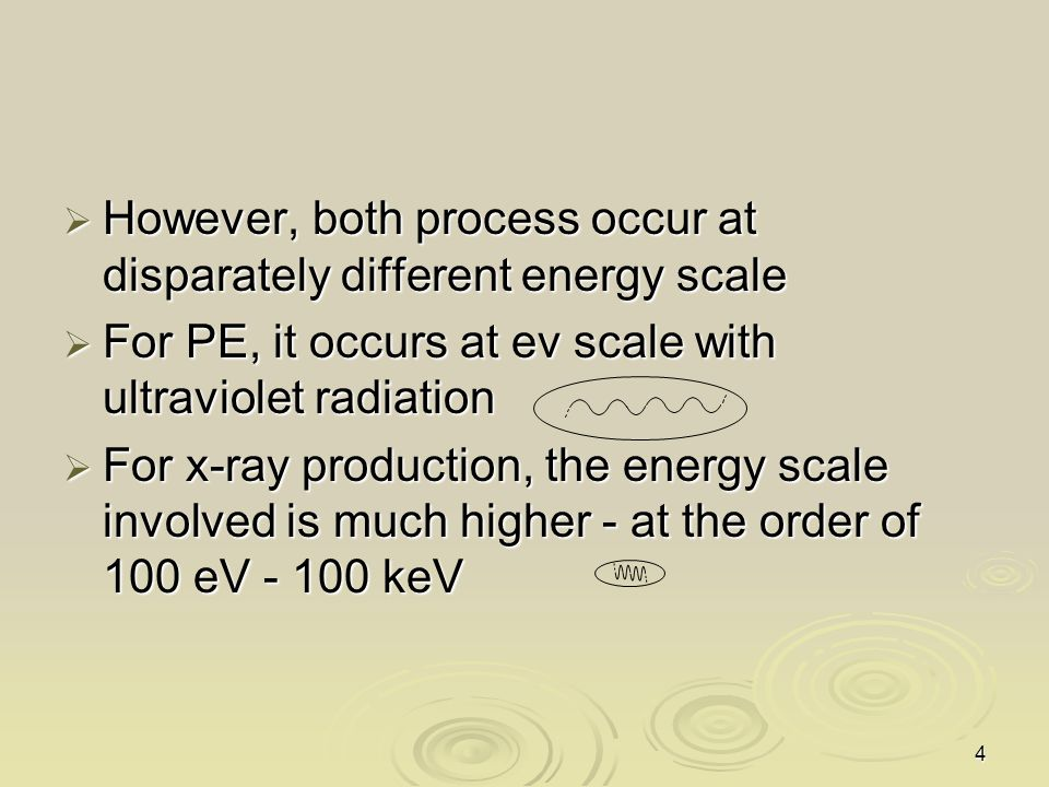 However, both process occur at disparately different energy scale
