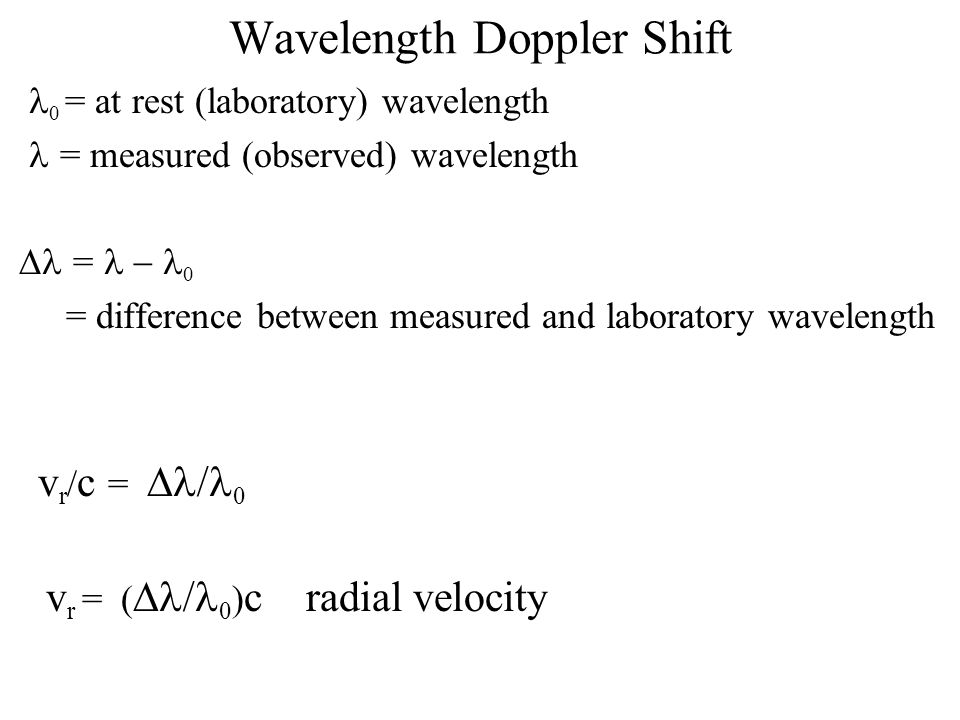 Wavelength Doppler Shift