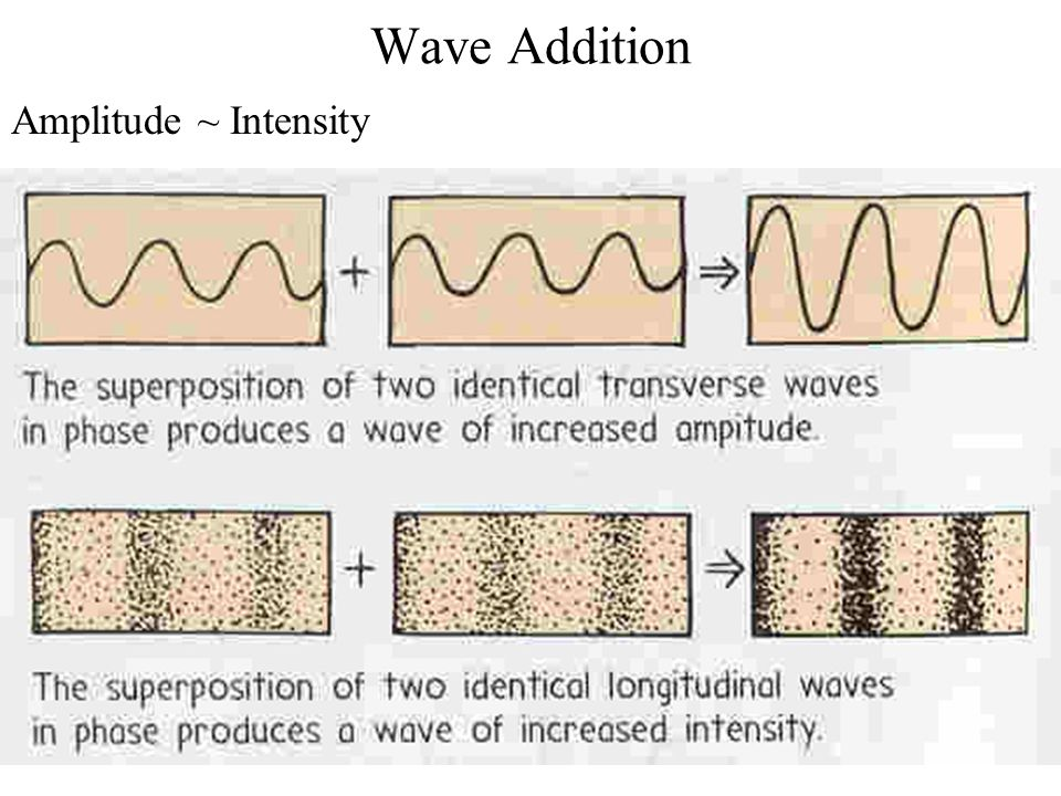 Wave Addition Amplitude ~ Intensity
