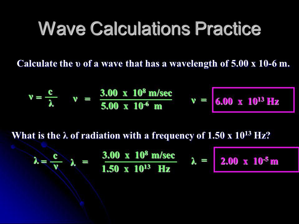 Wave Calculations Practice