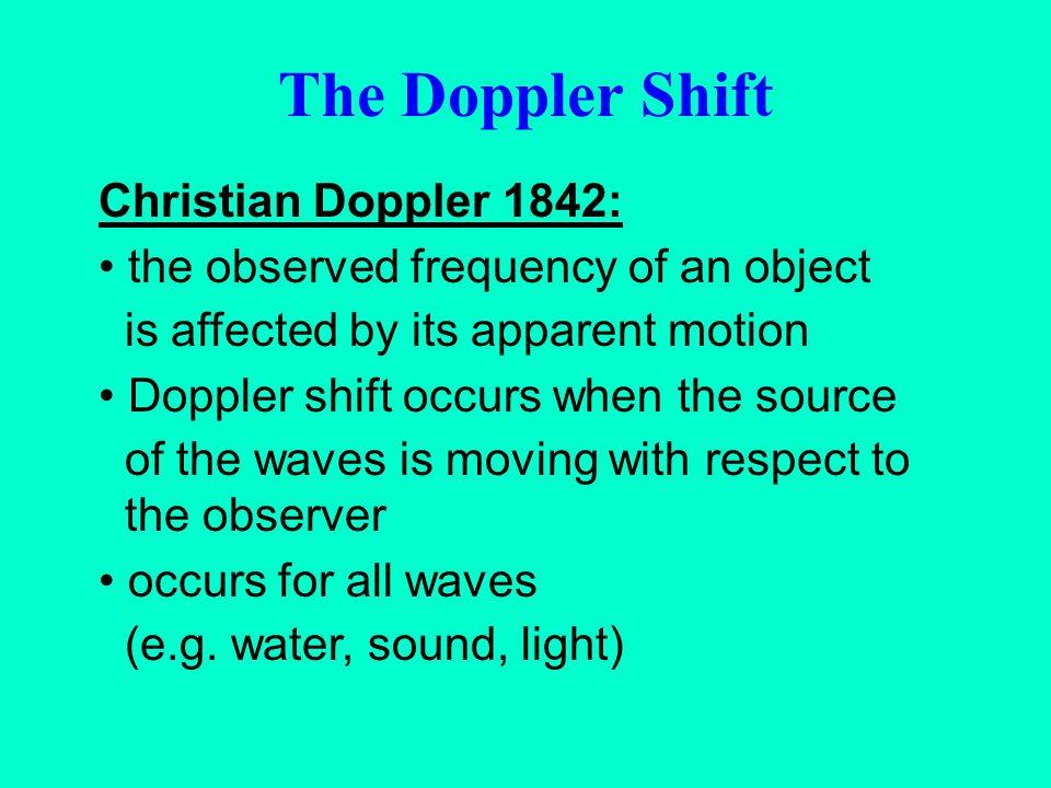 The Doppler Shift Christian Doppler 1842: