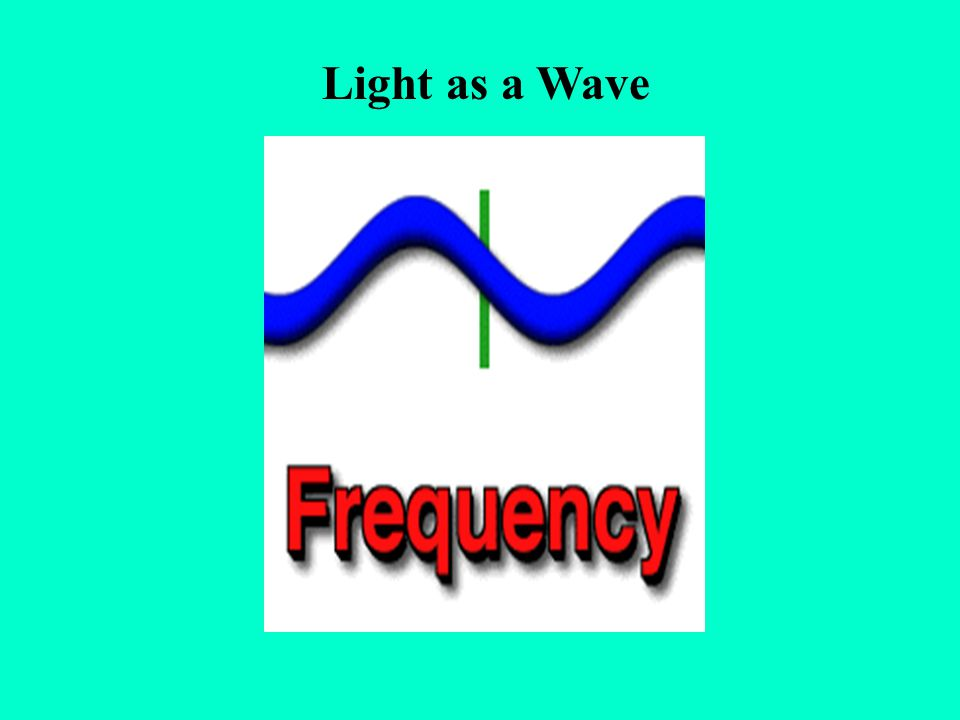 Light as a Wave frequency: how many cycles per second pass a certain point per second.