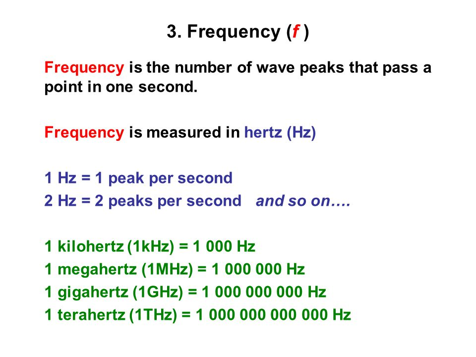 how to get freuency in a wave