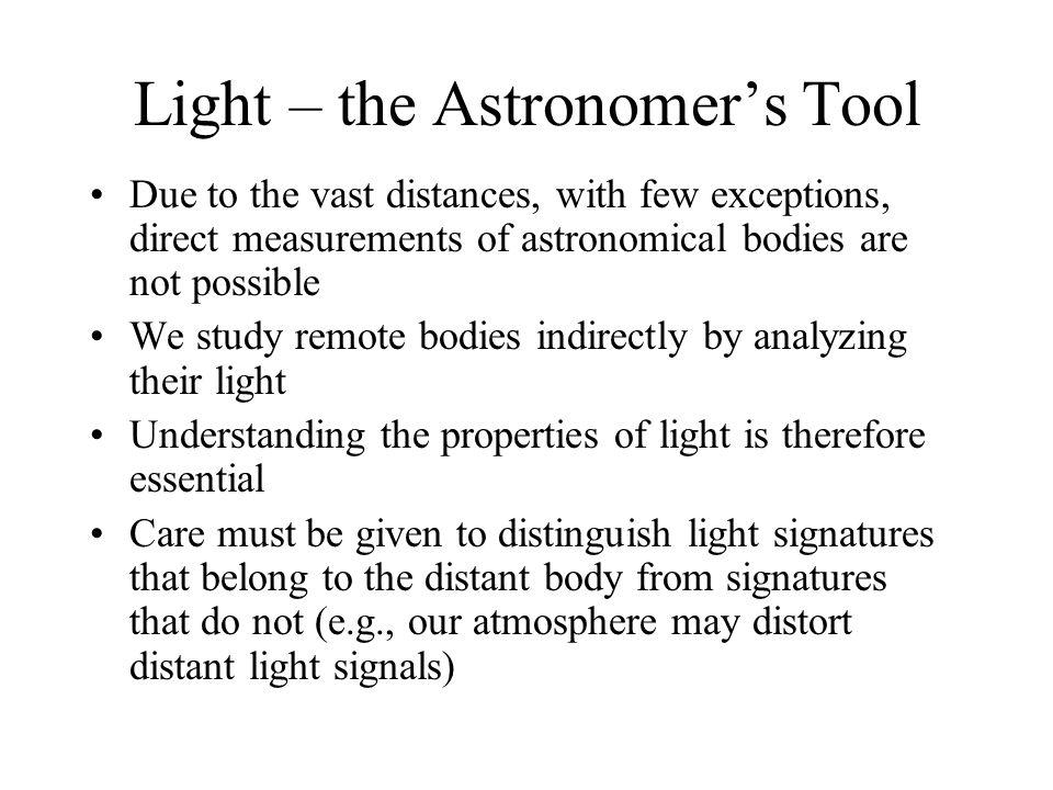 Light – the Astronomer's Tool