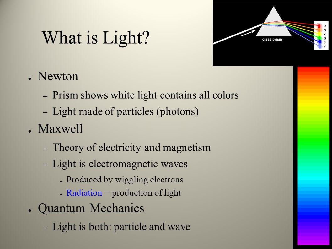 What is Light Newton Maxwell Quantum Mechanics