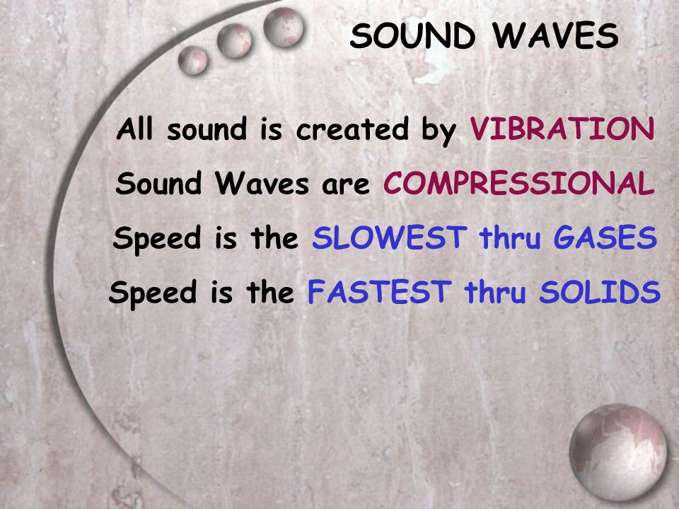 SOUND WAVES All sound is created by VIBRATION