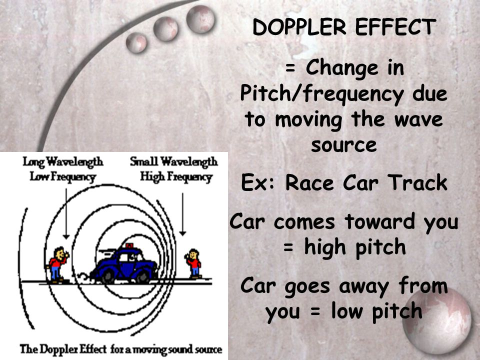 = Change in Pitch/frequency due to moving the wave source